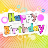 Happy Birthday. Abstract background Happy Birthday design Royalty Free Stock Images