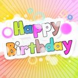 Happy birthday. Abstract background happy birthday design Royalty Free Stock Photography