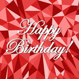 Happy birthday abstract card pattern illustration Stock Photo