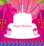 Happy Birthday - abstract greeting card Royalty Free Stock Image