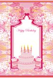 Happy Birthday - abstract greeting card. Vector Illustration Royalty Free Stock Photography