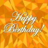 Happy birthday abstract orange. Card pattern illustration design graphic background stock illustration
