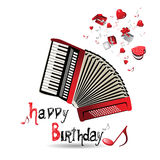 Happy Birthday accordion Stock Photo