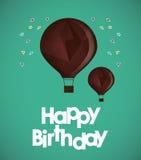 Happy birthday air balloons confetti ed. Vector illustration eps 10 Royalty Free Stock Photography
