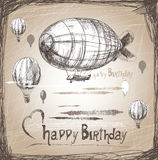 Happy Birthday airship Stock Photo