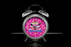 Happy Birthday Alarm Clock Royalty Free Stock Image