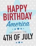 Happy Birthday America Stock Images