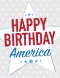 Happy Birthday America Stock Photography