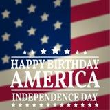 Happy Birthday America. Vector illustration. Royalty Free Stock Images