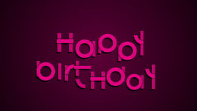 Happy birthday animated typography festive motion card stock video footage