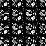 Happy birthday and anniversary seamless background pattern in ve Royalty Free Stock Photos