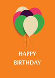 Happy Birthday Announcement and Celebration Message Poster Stock Images