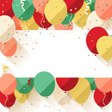 Happy Birthday announcement / poster / flyer Royalty Free Stock Photo