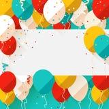Happy Birthday announcement / poster / flyer Stock Photos