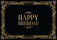 Happy birthday art deco Royalty Free Stock Photos