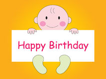 Happy Birthday - Baby Royalty Free Stock Images