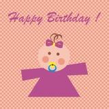 Happy birthday, baby girl Royalty Free Stock Photo