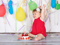 Happy birthday baby Stock Photography