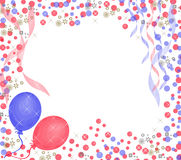 Happy birthday background. With balloons and sparkles Stock Images