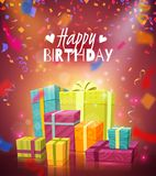 Happy Birthday Background Stock Photography