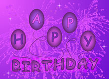 Happy birthday background Stock Images