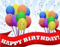 Happy birthday background. Happy birthday sign background illustration design Stock Images