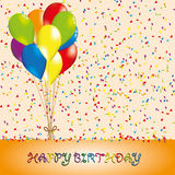 Happy birthday background. Happy bithday background with balloon Stock Image