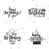 Happy birthday background. Abstract happy birthday background with some special objects Royalty Free Stock Photo