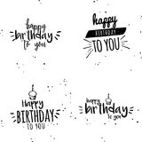 Happy birthday background. Abstract happy birthday background with some special objects Royalty Free Stock Photography