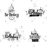 Happy birthday background. Abstract happy birthday background with some special objects Stock Photos