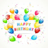 Happy Birthday background with balloons Royalty Free Stock Image