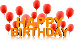 Happy birthday background with balloons. Royalty Free Stock Photo
