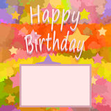 Happy birthday background. Happy birthday brigh greeting card, invitation, photo frame or background Royalty Free Stock Image