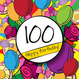 100 Happy Birthday background or card with. 