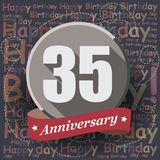 35 Happy Birthday background or card. Stock Image