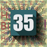 35 Happy Birthday background or card.  Stock Photography