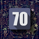 70 Happy Birthday background or card. Flat design vector illustration