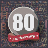 80 Happy Birthday background or card. 