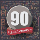 90 Happy Birthday background or card. Royalty Free Stock Photos
