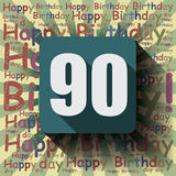 90 Happy Birthday background or card. Stock Images