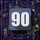 90 Happy Birthday background or card. Royalty Free Stock Image