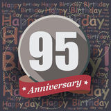 95 Happy Birthday background or card. Royalty Free Stock Images
