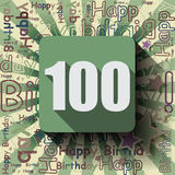 100 Happy Birthday background or card. Royalty Free Stock Image