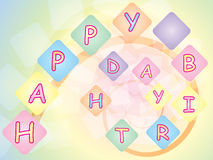 Happy birthday background Royalty Free Stock Photo