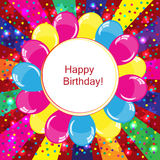 Happy Birthday background. Colorful Happy Birthday background with balloons Royalty Free Stock Photos
