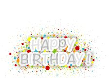 Happy Birthday Background with Colorful Dots. Abstract Illustration, Vector Stock Photography