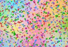 Happy birthday background with confetti. Festival background with multicolored confetti Stock Images