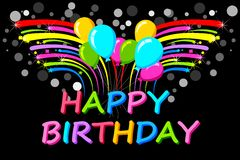 Happy Birthday Background. Easy to edit vector illustration of Happy Birthday background Royalty Free Stock Images