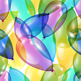 Happy Birthday background with  flying colorful balloons. Happy Birthday background with flying colorful balloons, illustration Royalty Free Stock Image