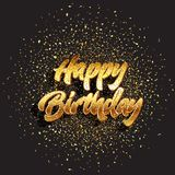 Glitter happy birthday background 2303. Happy Birthday background with glitter and confetti Stock Images